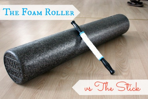 self massage tools : foam roller or the stick