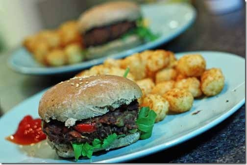 burgers and tots