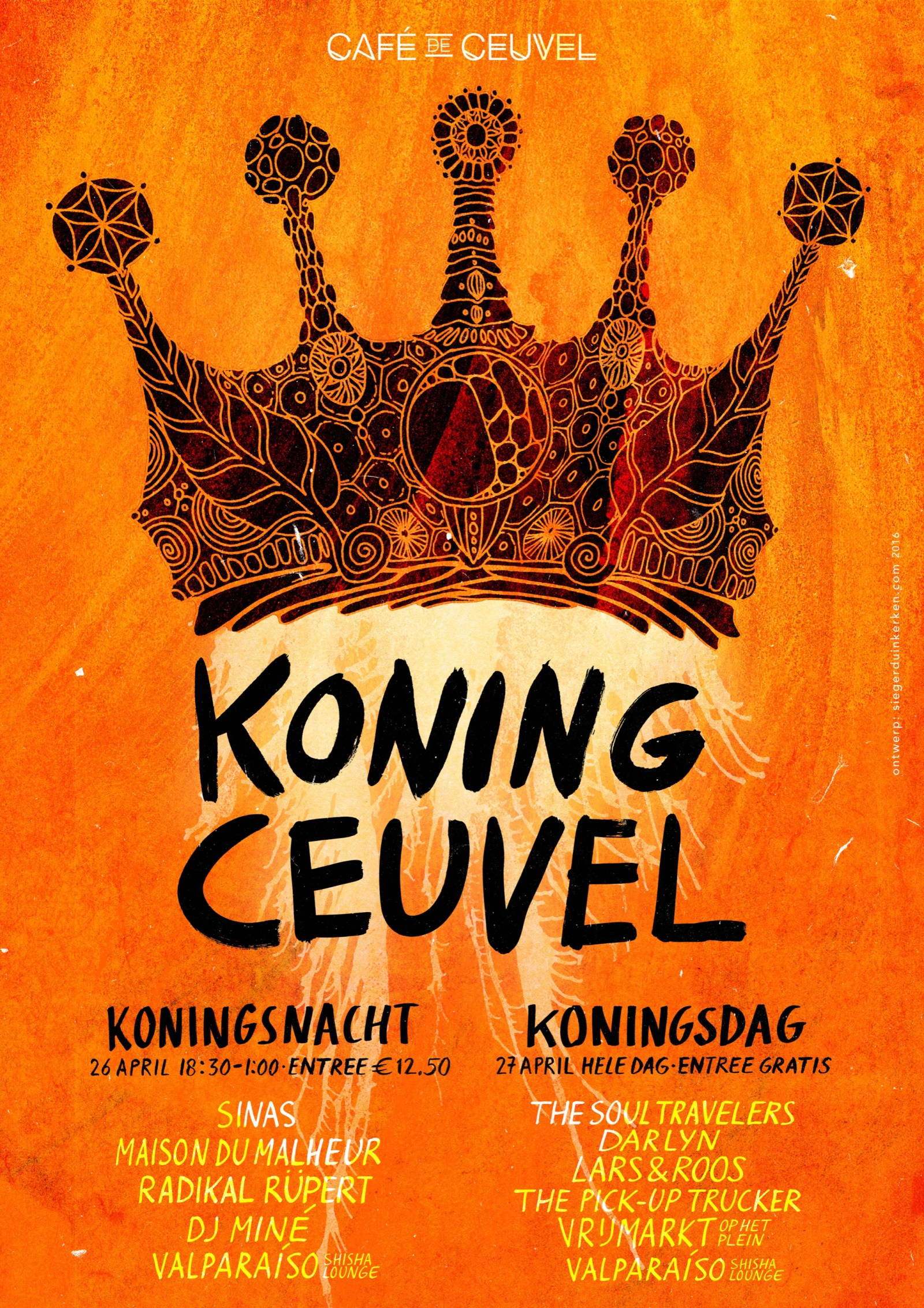 Affiche Ceuvel Koningsdag 2016 DEF M