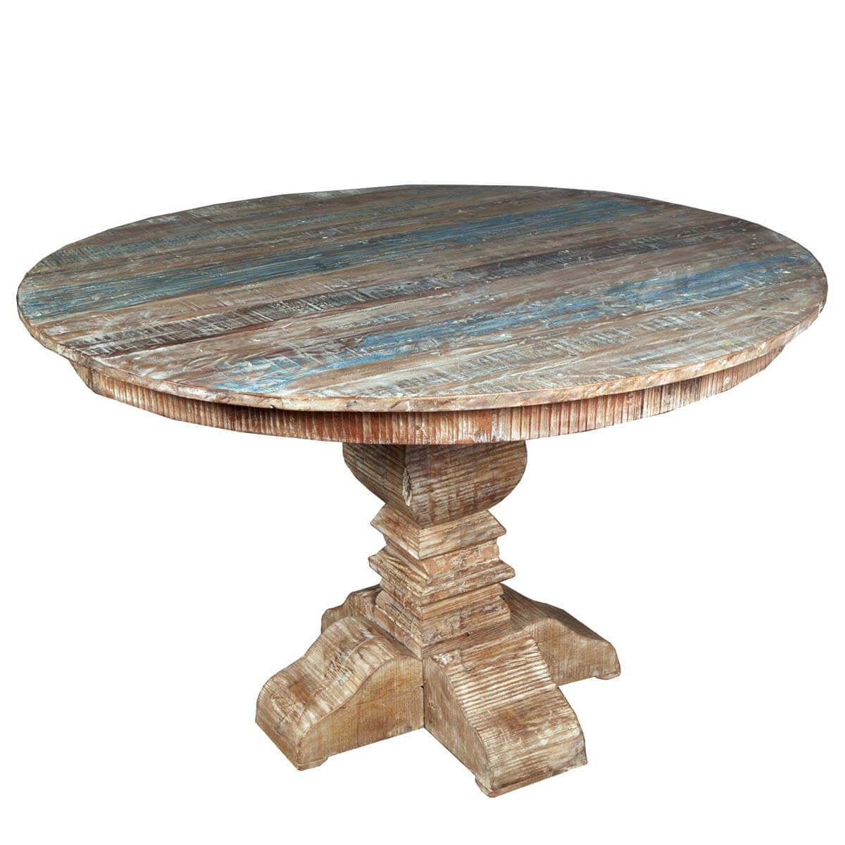 Fantastic French Quarter Rustic Reclaimed Wood Round Table Reclaimed Wood Tables Sale Reclaimed Wood Table Houston houzz-03 Reclaimed Wood Dining Table