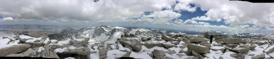 Summit conditions after the late May storm