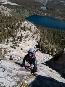 Lara climbs the Crag
