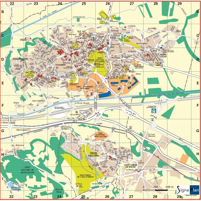 Plan l'Isle d'Abeau (38)