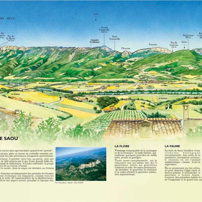Panorama massif de Saoû Maribel et Blacons (26)