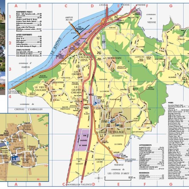 Plan Reventin-Vaugris (38) - dépliant