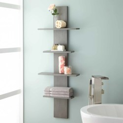 Small Crop Of Wood Bathroom Shelves