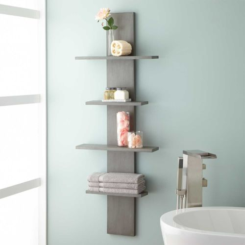 Medium Crop Of Wood Bathroom Shelves