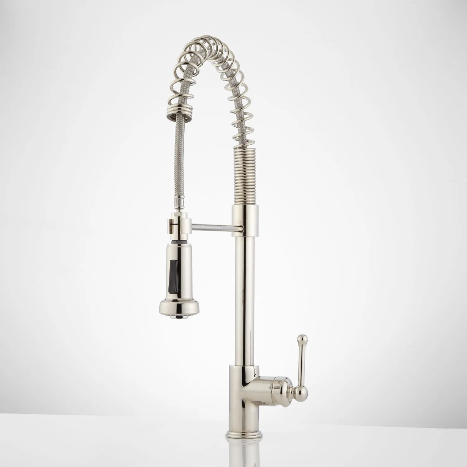 rachel pull down kitchen faucet with spring spout brushed nickel kitchen faucet Polished Nickel