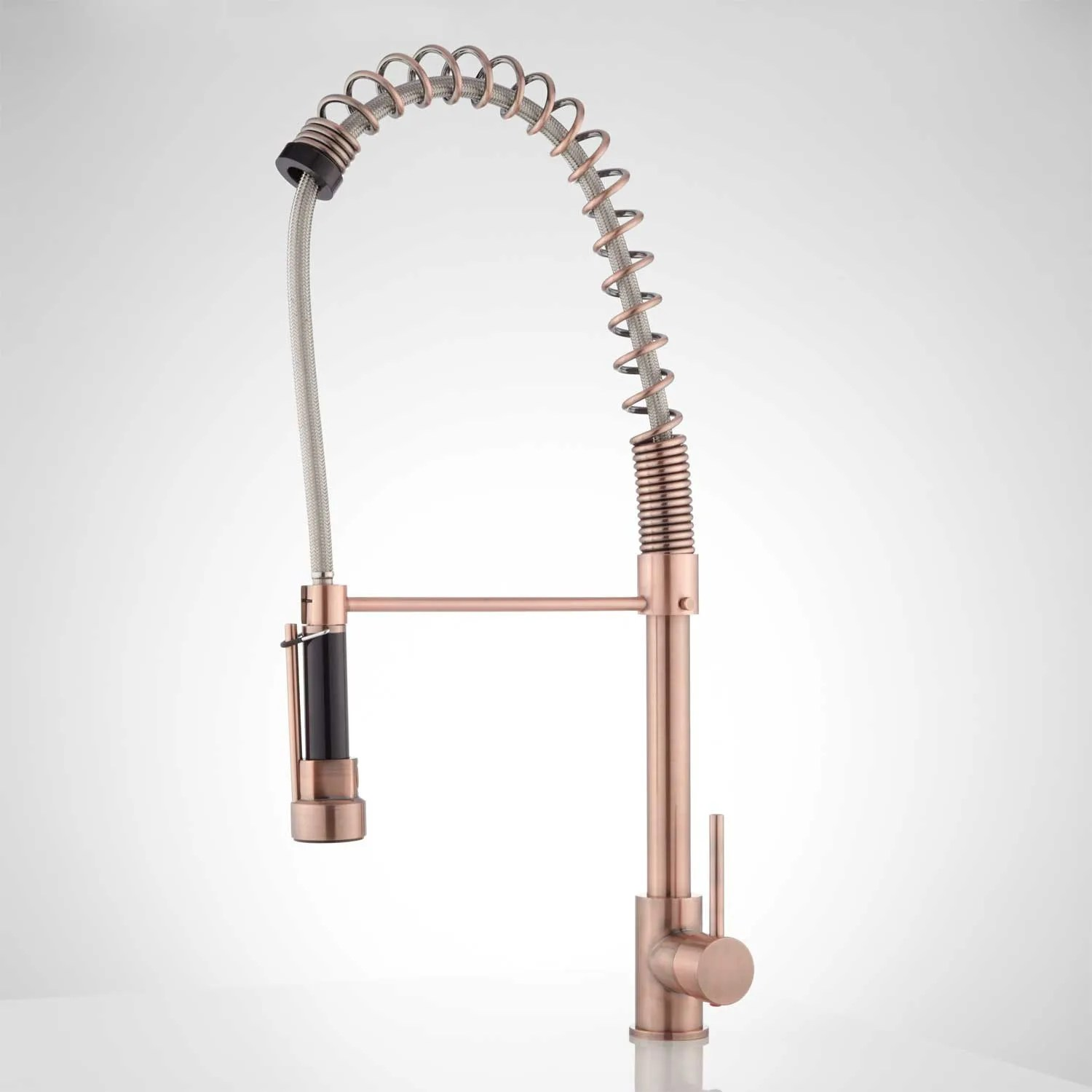 asaro kitchen faucet with pull down spring spout kitchen faucet pull down Antique Copper Side