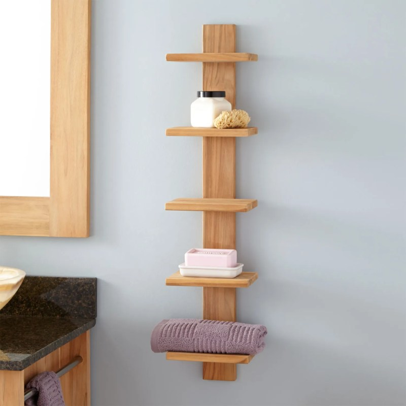 Large Of Hanging Shelves In Bathroom