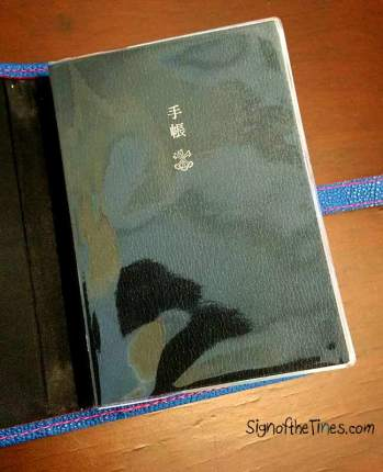 The Hobonichi Techo English with Midori A6 clear cover.