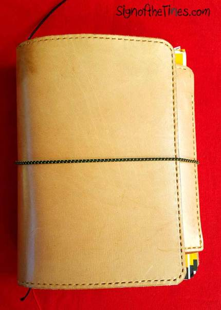 Sunday Leather Craft Travaler's Notebooks- front view