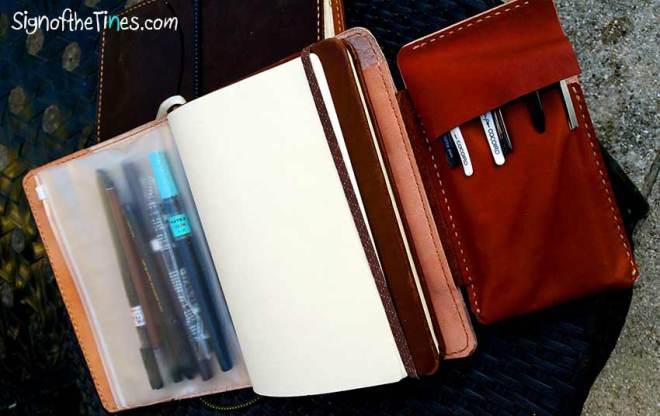 Sunday Leather Craft Travaler's Notebooks- foldout