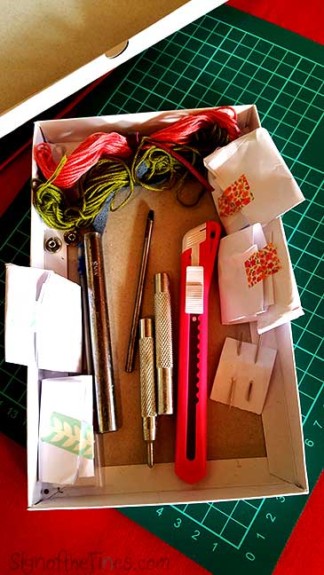 Supplies for LEather Crafting.