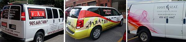 vinyl wrapped vans in Vaughan, Toronto