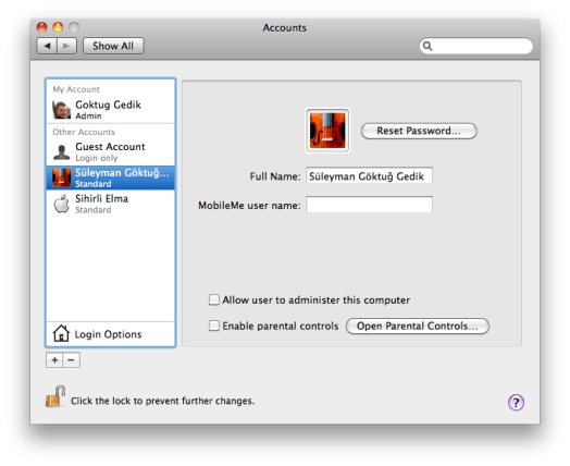 sihirli elma user accounts kullanici hesaplari 17 Mac101: Kullanıcı Hesapları ne işe yarar?