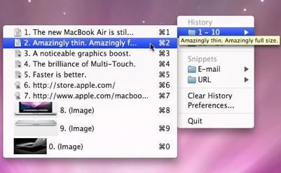 sihirli elma editor yazi kopyala flycut jumpcut pano 11 clipmenu Editörler için hayat kurtaran uygulama: Flycut