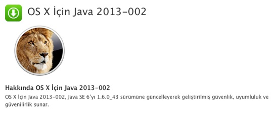 sihirli elma java guvenlik guncelleme 2013 002 1 Java için bir güvenlik güncellemesi daha: 2013 002