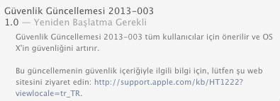 sihirli elma guvenlik guncelleme 2013 003 1 Güvenlik güncellemesi 2013 003 Snow Leopard, Lion ve Mountain Lion için geldi