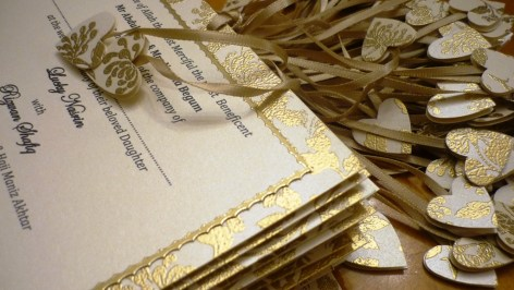 Two hearts embossed Invitations