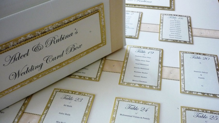 Regal Table Plan with matching Wedding Card Box