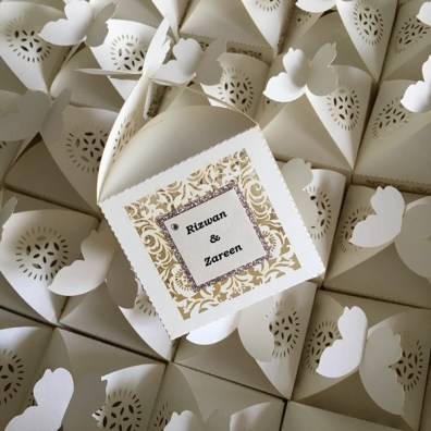 Laser cut Favour Boxes