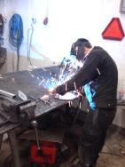 Silas Metallkonst smider uppfinning