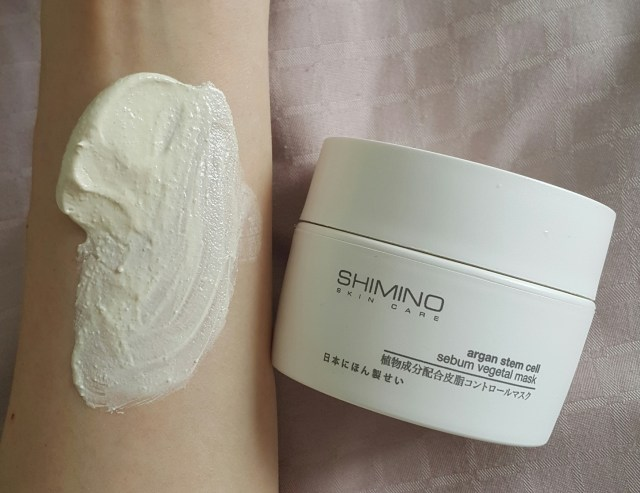 1. Shimino Argan Stem Cell Sebum Vegetal Mask 【价钱请洽询特定美容院】