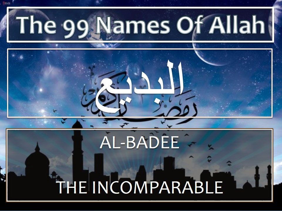 Treatment using name Al-Badee
