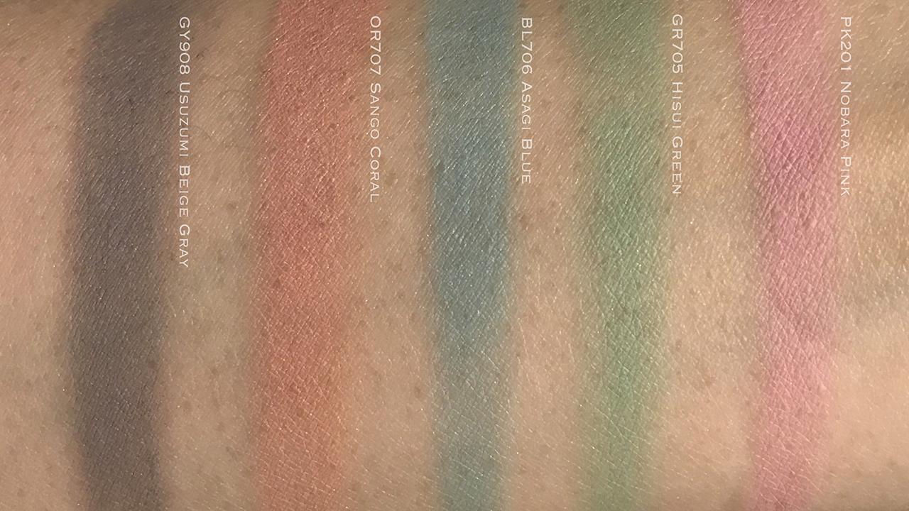 Shiseido Paperlight Cream Eye Color swatches