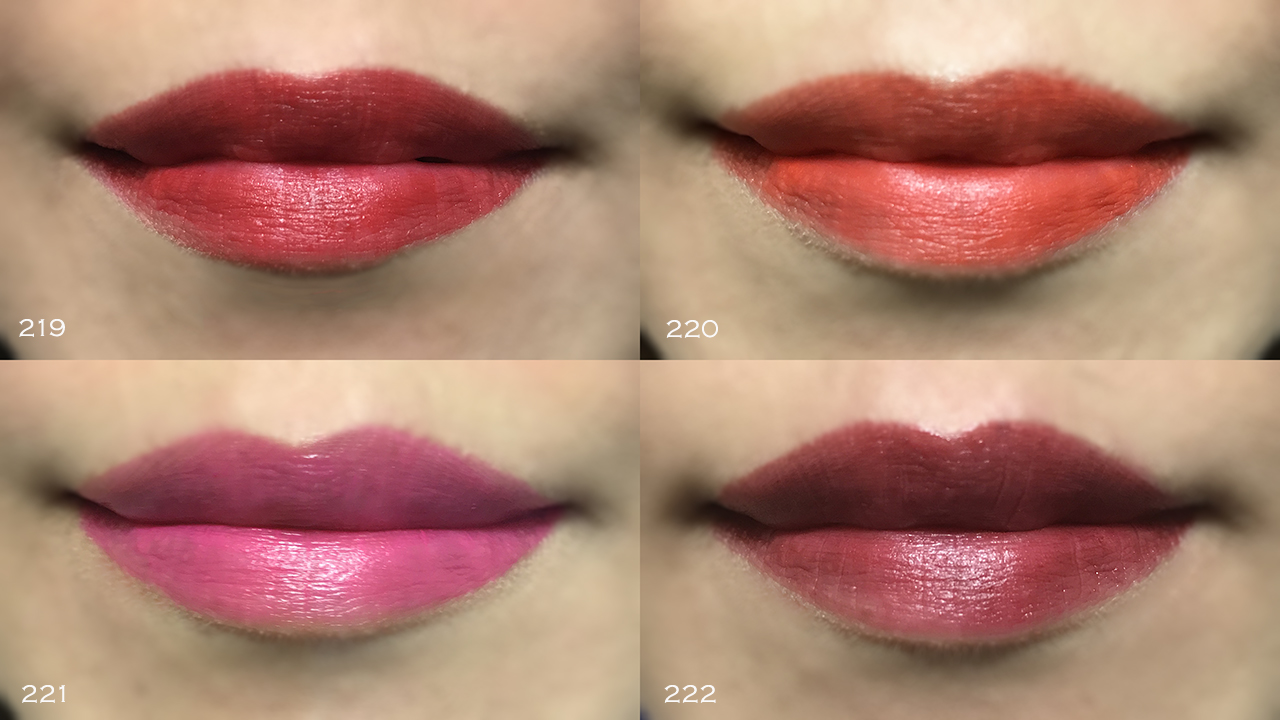 YSL Rouge pur Couture The Mats lip swatches