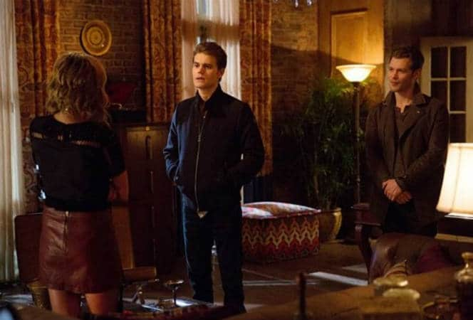 Stefan with Klaus and Freya in A Streetcar Named Desire