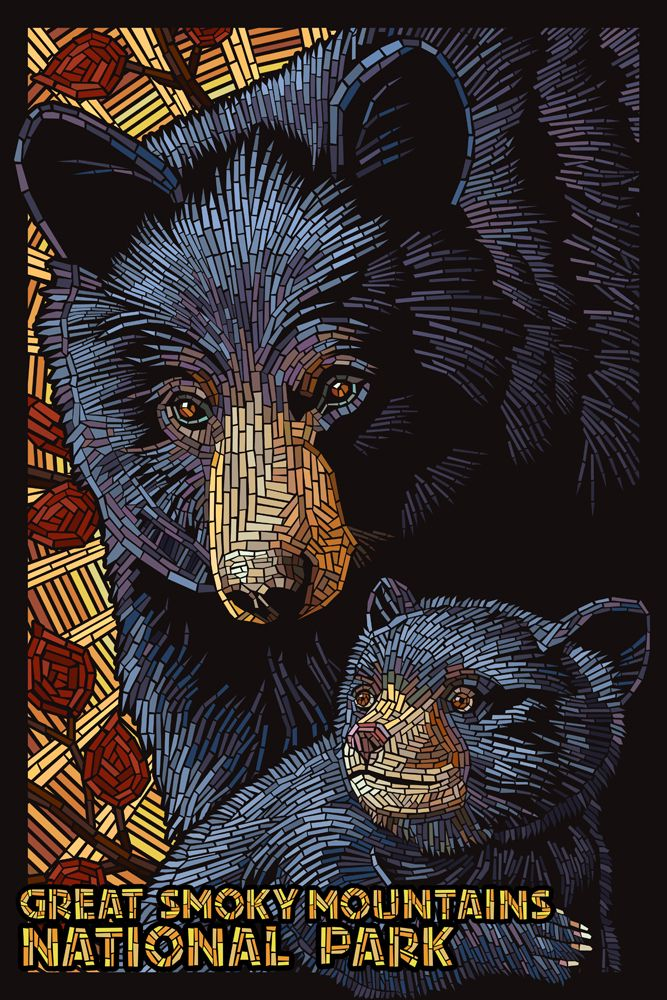 Great Smoky Mountains National Park - Black Bears Mosaic