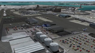 FS2004-Flying over eastern side of airport