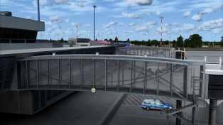 Fluggastbrücke Seitenansicht