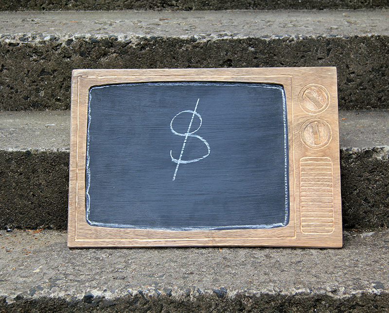 Retro TV Chalkboard