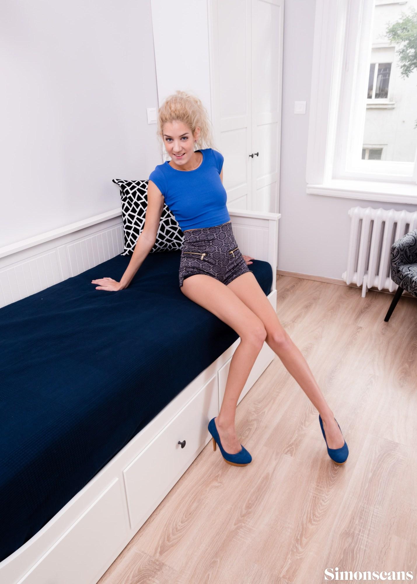 Monique has incredible long legs