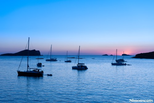 Typical Ibiza sunset