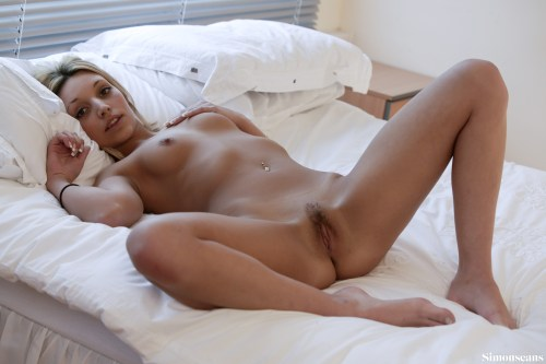 Kristy nude on the bed