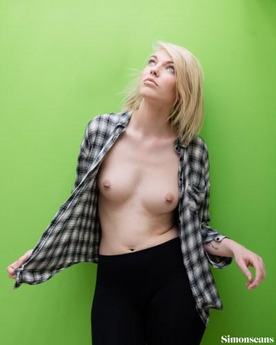 Krystal with piercings in her nipples