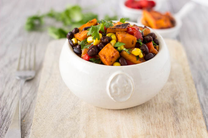 chipotle sweet potato salad featured