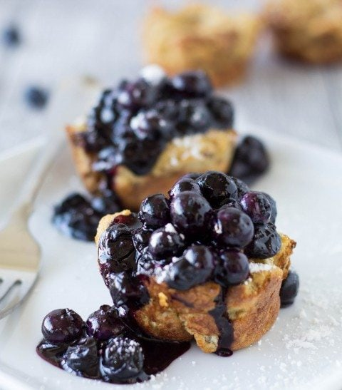 french toast muffins with blueberries pinterest