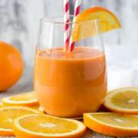 """Stress Buster"" Orange Smoothie"