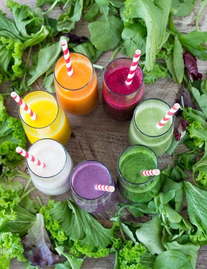 7 Healthy Smoothies -SimpleHealthyKitchen.com #recipes-1