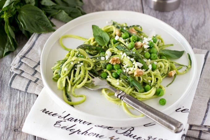 zucchini noodles with avocado pesto- simplehealthykitchen.com-070