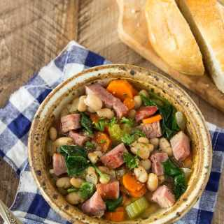 One Pot Ham & Bean Soup