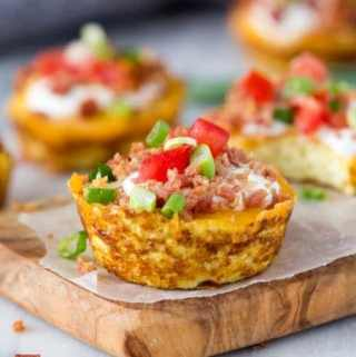 Faux Loaded Potato Skins {Low Carb}