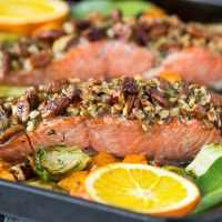 Pecan Crusted Oven Baked Salmon