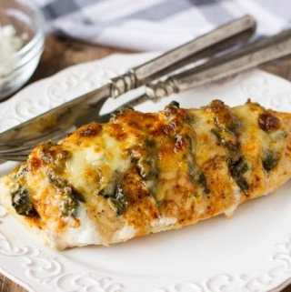Spinach + Goat Cheese Hasselback Chicken