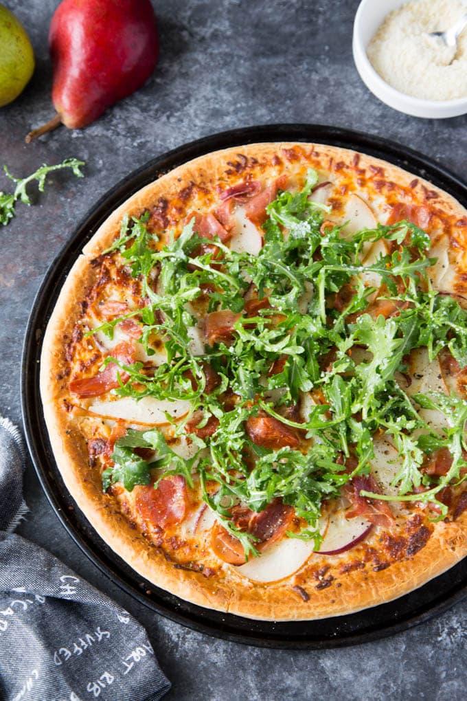 pear and prosciutto pizza 3